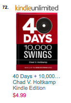 40 Days + 10,000 Swings #72 on Amazon Exercise & Fitness - Training